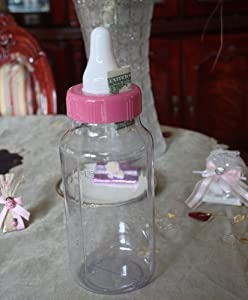 baby shower centerpiece large 11 inch pink baby bottle bank or baby