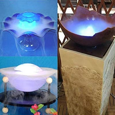 Fuloon 12 LED Fountain Mist Maker Light Mister Foggers--- Automatically Colors Pattern Changes