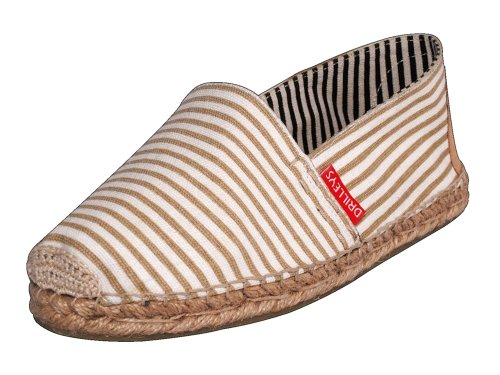 Cheap Seville Men's Tan Striped Espadrilles Hand Made Natural Cotton and Jute (B0078MQ2V4)
