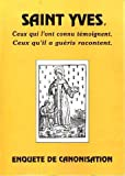 img - for Saint Yves. Enquete de canonisation book / textbook / text book