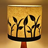 Craftter GROWING PLANTS Design WHITE & BLACK PAPER Colour Table Lamp Shade (CPTLS-54)