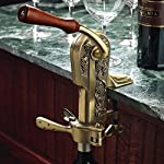 Wine Enthusiast Legacy Corkscrew with Birch Stand, Antique Bronze
