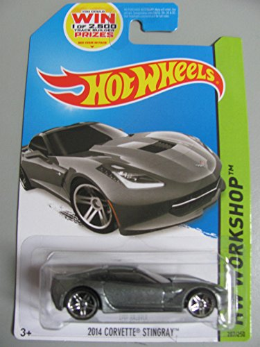2014 Hot Wheels Hw Workshop - 2014 Corvette Stingray - Silver