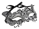 Mysterious Metal Filigree Cat Mask