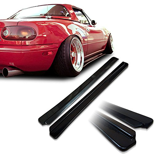 Mazda Miata NA MX5 Feed Underline Style Urethane Side Skirt Extensions For 90-97 Models (Miata Side Skirts compare prices)