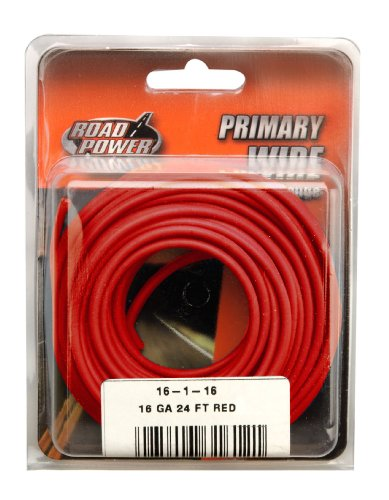 Coleman Cable 16-1-16 16-Gauge 24-Foot Automotive Copper Wire, Red