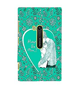 PrintDhaba Lovely Couple D-1023 Back Case Cover for NOKIA LUMIA 920 (Multi-Coloured)