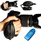 first2savvv new leather digital camera SLR hand strap grip for SONY DSC-HX100V with card reader
