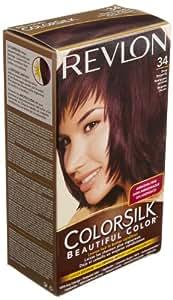 Revlon Colorsilk Haircolor, Deep Burgundy, #34 (Pack of 3)