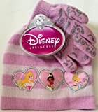 Disney Princess Set of Gloves and Beanie for Little Girls