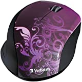 Verbatim Wireless Optical Design Mouse, Purple 97783
