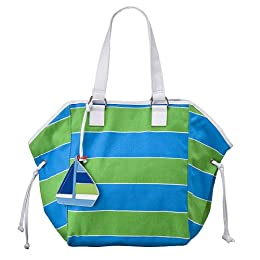 Cynthia Rowley for Target® Market Tote with Sailboat - Blue/ Green : Target from target.com