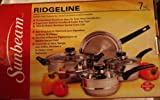 Gibson Sunbeam Ridgeline Stainless Steel 7-Piece Cookware Set