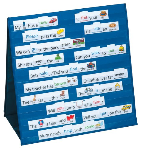 Smethport Tabletop Pocket Chart Sight Words  and  Sentences (Classroom Reading Charts compare prices)