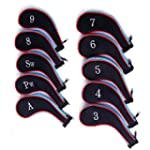 HDE Set of 10 Zip-Up Golf Club Iron &...