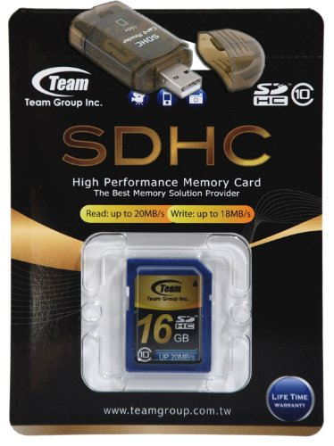 16GB Class 10 SDHC Team High Speed Memory Card 20MB/Sec. Fastest Card in the Market FOR HP PHOTO SMART E337 M447. A free High Speed USB Adapter is included. Comes with Lifetime Warranty.