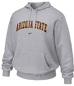 Arizona State Sundevils Grey Embroidered Hooded Sweatshirt By Nike by Nike