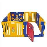 Parque de Bebe XXL 8 Piezas + Colchoneta Ibaby Play Twin / Mejor Parque Infantil 2014 / Multiples Formas de Montaje