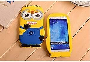 mobbysol ™ Samsung Galaxy J7(2016)/J710 Cute Cartoon Despicable Me Minion Back Case Cover , Multicolor