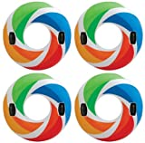 Intex Inflatable Color Whirl Floating Tube Raft w/ Handles (Set of 4) | 58202EP