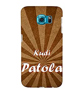 Kudi Patola 3D Hard Polycarbonate Designer Back Case Cover for Samsung Galaxy S6 Edge+ :: Samsung Galaxy S6 Edge Plus :: Samsung Galaxy S6 Edge+ G928G :: Samsung Galaxy S6 Edge+ G928F G928T G928A G928I