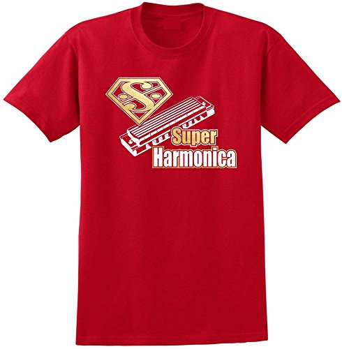 harmonica-super-red-rot-t-shirt-grosse-112cm-45in-xl-musicalitee