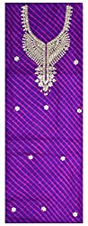 Aravalli Collections Women's Silk Unstitched Kurta (Purple)