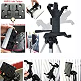 "Tablet Tripod Mount for Apple iPad 2 3 4 Air Mini Samsung Galaxy Tab Microsoft Surface Asus VivoTab 7"" 8"" 9"" 10"" Screen Tablet (Holder only, Tripod is not included)"
