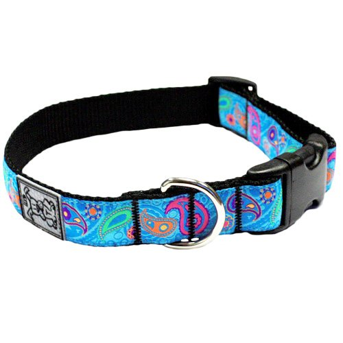 RC Pet Products 3/4-Inch Adjustable Dog Clip Collar, 9 by 13-Inch, Small, Tropical Paisley