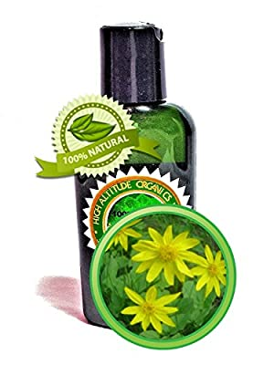 Arnica Oil Extract Arnica Montana- 2 oz - 100% Pure and Potent - Anti-inflammatory for Sore Muscles, Bruises, Rheumatoid arthritis, Sprains, and Fractures READ DESCRIPTION- All-Natural and Organic