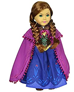 Ebuddy ® Sparkle Princess Dress Clothes inspried by Anna- Fits 18 Inch Dolls from Ebuddy