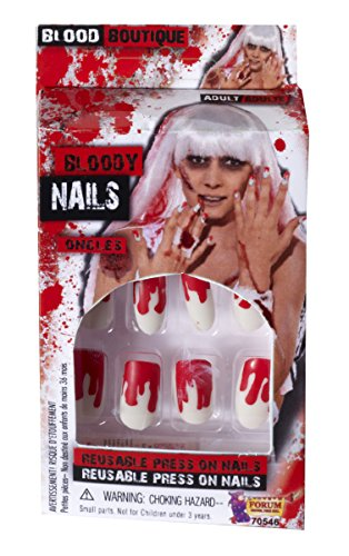 Forum Novelties Women's Novelty Bloody Nails