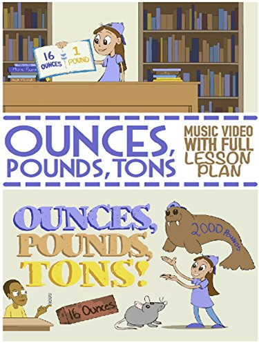 Ounces (oz), Pounds (lbs), and Tons Song: Weights and Measurement Video For Kids