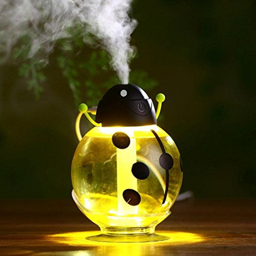 Aritone(TM) Home Aroma LED Humidifier Air Diffuser Purifier Atomizer (Yellow) (Homemedics Ultrasonic Humidifier compare prices)