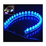 SODIAL- 12v LED Flexible BLUE Strip Light 24cm / 24 LEDs -Set of 2