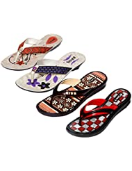 Krocs Super Comfortable Combo Pack Of 2 Pair Flip Flop With 2 Pair Slippers For Women (Pack Of 4 Pair) - B01JS6TZIY