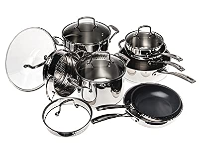 Cuisinart W99I-13 13Pc Classic Induction Stainless Steel Cookware Set