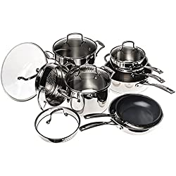 Cuisinart W99I-13 13-Piece Classic Induction Cookware Set - Stainless Steel