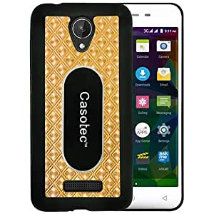 Casotec Metal Back TPU Back Case Cover for Micromax Canvas Spark Q380 - Gold
