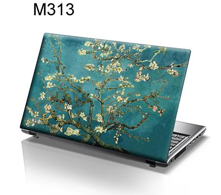 TaylorHe Laptop Skins - Pegatina de vinilo para port�til (15,6'', efecto cuero), dise�o �rbol en flor