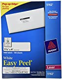 Avery Easy Peel Mailing Labels for Laser Printers, 1.33 x 4 Inches, 14-Up, White, Box of 1400 (05162)