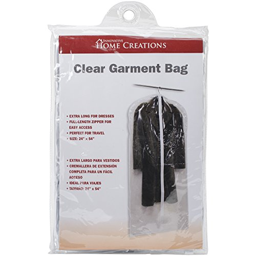 Innovative Home Creations Clear Dress/Suit Bag (Dress Garment Bags Clear compare prices)