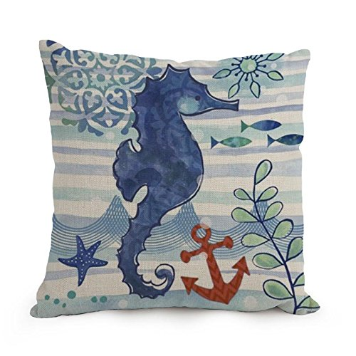 Ocean Throw Pillow Covers 18 X 18 Inches / 45 By 45 Cm Gift Or Decor For Seat,floor,divan,bedding,deck Chair,dance Room - Double Sides (Beach Theme Quilt Twin compare prices)