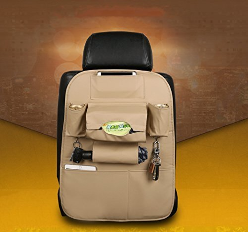 Find Cheap Car Backseat Organizer PU Leather Quality Seat Protector For The Luxury Car Multipurpose ...