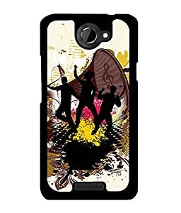 Fuson 2D Printed Music Designer back case cover for HTC One X - D4168