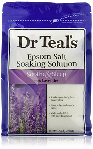 Dr Teals Lavender Epsom Salt - Soothe and Sleep - 3lbs - 1 bag (Epsom Salts compare prices)