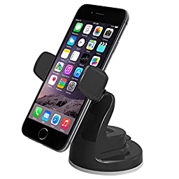 iOttie Easy View 2 Car Mount Holder for iPhone 7 7 Plus, 6s Plus 6s 5s 5c, Samsung Galaxy S7 Edge Plus S7 S6, Note 5 -Retail Packaging -Black