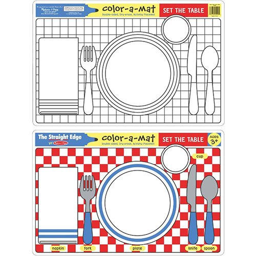 Melissa & Doug Set the Table Color-A-Mat - 1