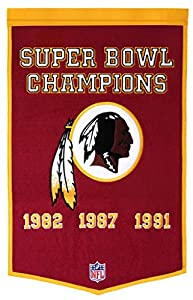 Washington Redskins Official NFL 24 inch x 36 inch Dynasty Banner Flag by Winning Streak
