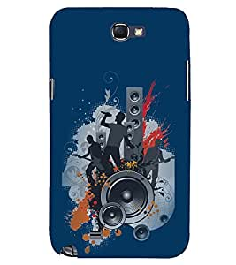 PRINTSWAG MUSIC BOYS Designer Back Cover Case for SAMSUNG GALAXY NOTE 2